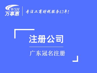 广东冠名注册_广东公司注册代办费用和流程-万事惠注册公司
